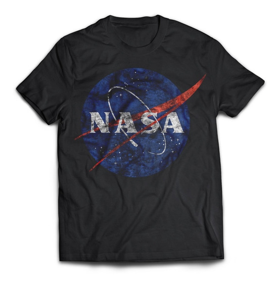 Camiseta Logo Nasa Desgastado Rock Activity