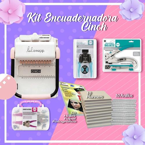 Imagen 1 de 1 de Kit Encuadernadora Cinch Cuadrada + Herramientas + Insumos
