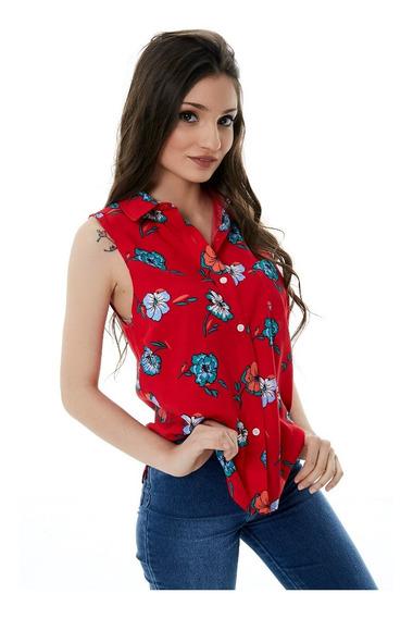 Camisa Sin Mangas Fibrana Mujer T.36 Al 44
