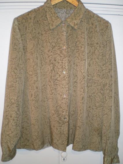 Camisa Seda Vintage