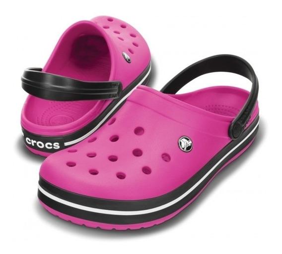Crocs Crocband Adultos Candy Pink Black En La Plata