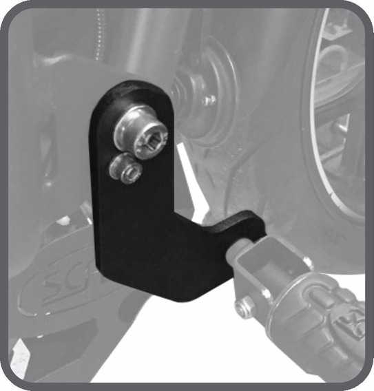 Extensor Pedaleira Protetor Motor Scam Kawasaki Versys 650