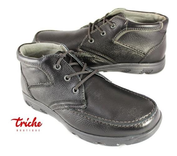 Zapato Botín Caballero Negro Flexi 95102 Casual Agujeta