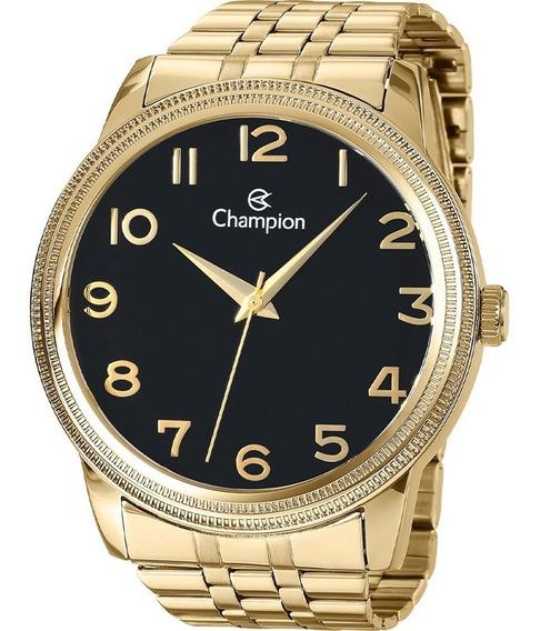 Relógio Champion Unissex Pulseira Dourado Caixa 4,5 Cn29490u