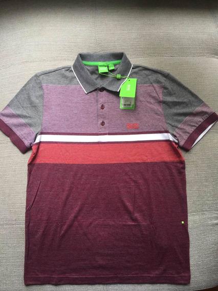 Polo Hugo Boss Green Label Talla S Slim Fit Rojo