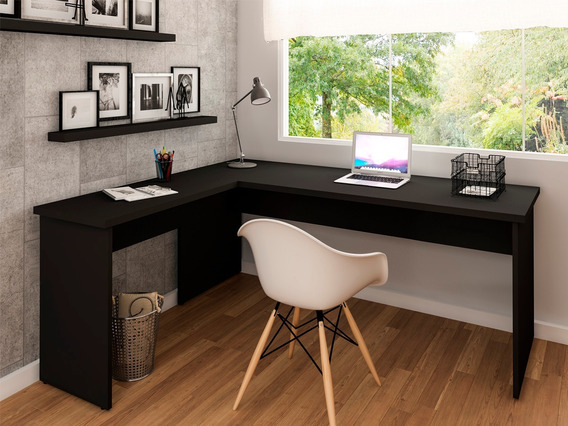 Mesa De Escritório Em L 1.60x1.50 Netmobil Tampo 30mm