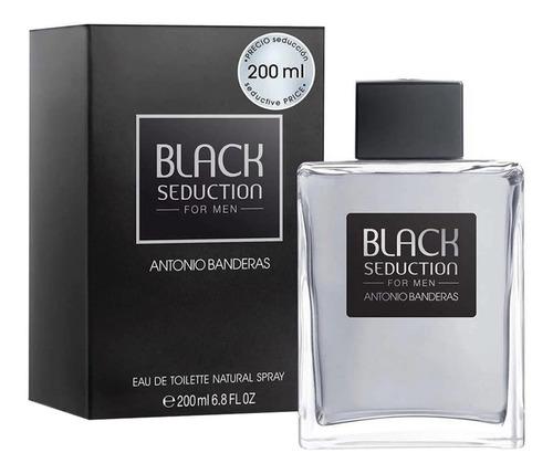 Imagen 1 de 1 de Antonio Banderas Black Seduction 200ml Silk Perfume Original