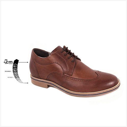 Zapato Casual Oxford Café Max Denegri +7cms De Altura