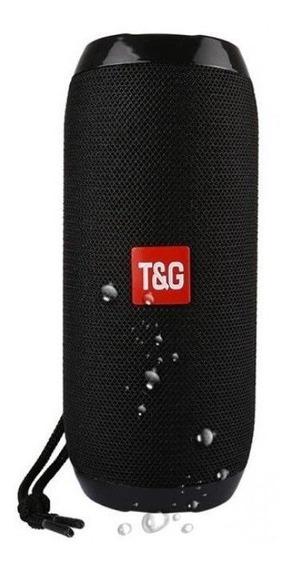 Caixa De Som Portatil Com Bluetooth Tg-117 - Preta