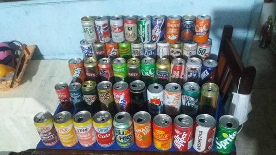 Latas Antiguas De Gaseosas Y Cervezas