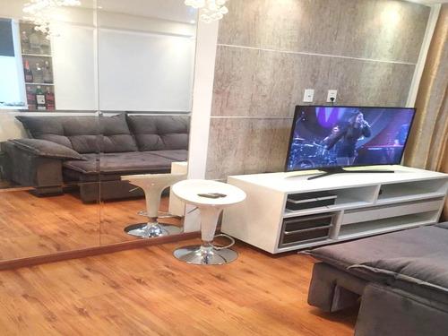 Imagem 1 de 11 de Apartamento Único Av.guarulhos Mobiliado 45m² 2 Dorm 1 Vaga
