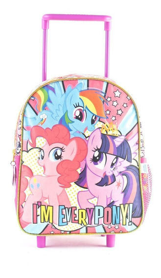 Mochila My Little Pony 12 Pulgadas Con Carro 68606 Orig!!