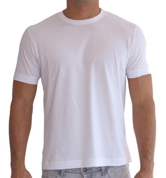 Kit 10 Camiseta Branca Lisa Básica Camisa Malha 100% Algodão