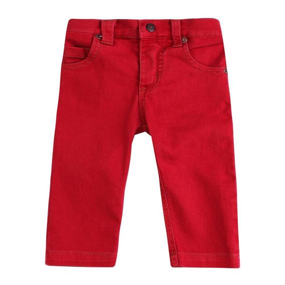 Calça Bebê Masculino Sarja Vermelho