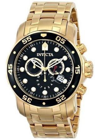 Relógio Invicta Pro Diver 0072 Preto Dourado Original