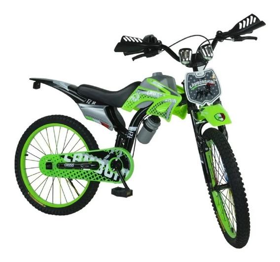 Bicicleta Infantil Rodado 20 Moto Cross Babymovil 7113