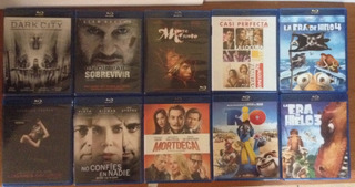 Set 10 Blu Ray Diferentes Titulos