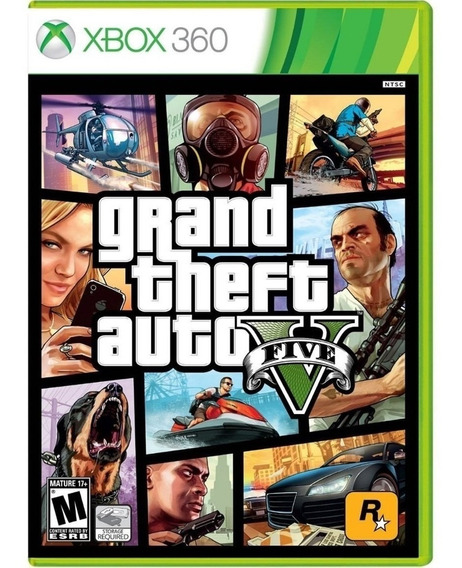 Grand Theft Auto V Gta 5 Xbox360 Disco Fisico Cd Original