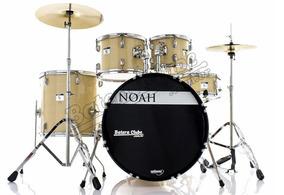 Bateria Noah Sc5 Series Natural Wood 22¨,10¨,12¨,16¨ Com Pra