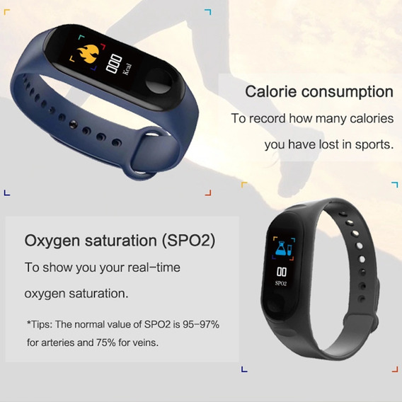 Relógio Inteligente Pressão Frequência Cardíaca Black