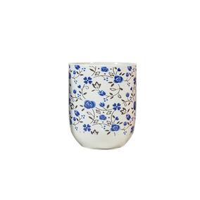 Copo Para Chá Em Porcelana Multiart Azul Claro