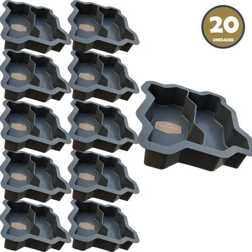 20 Formas Duplas Intertravadas Para Bloquetes De Cimento 6cm