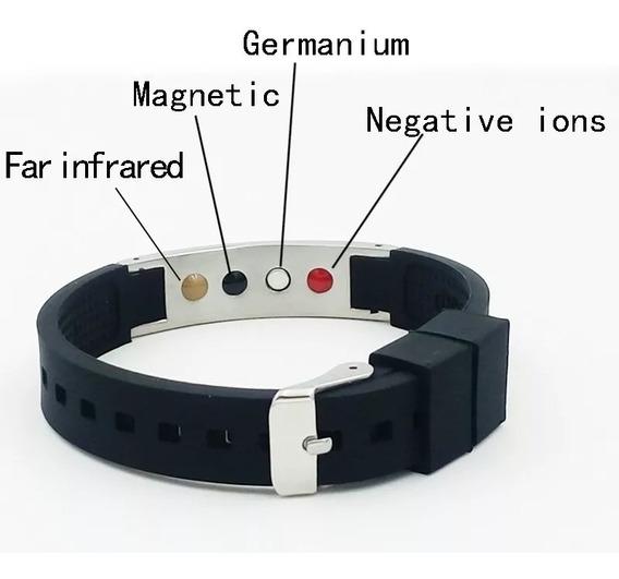 Pulseira Magnética Ion Fir 4 Em 1 Unissex 50% Desconto