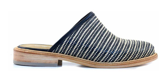 Zueco Cuero Mujer Briganti Zapato Suela - Mcsu48037 Tr
