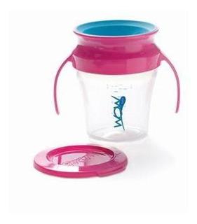 Vaso Para Bebes Antiderrame Wow Cup Con Asas 207ml Colores