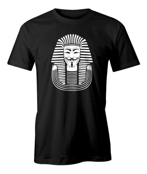 Camisa Anonymous Faraó Hacker V De Vingança Filmes Hq