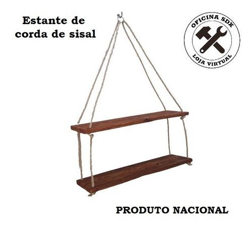 Estante Prateleira De Corda De Sisal