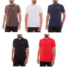 7b4238cb759 Camisa Polo Lacoste Sport Logo Emborrachado Varias Cores