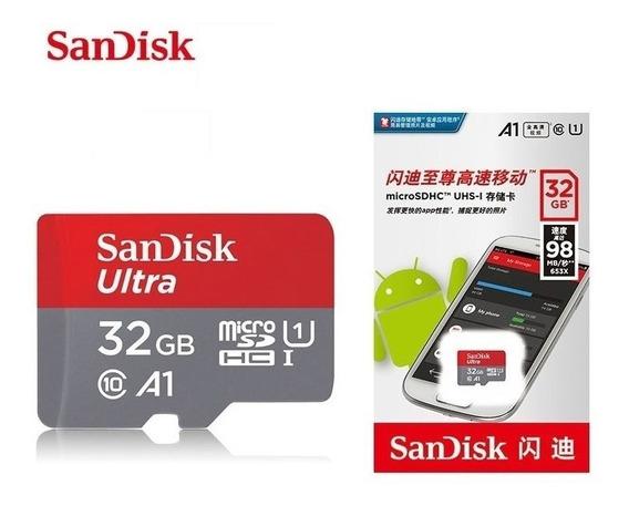 4x Cartão De Memória Sandisk Micro Sdhc Ultra 32gb C10 A1