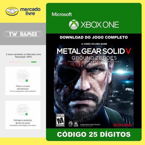 Metal Gear Ground Zeroes 25 Digitos Xbox One