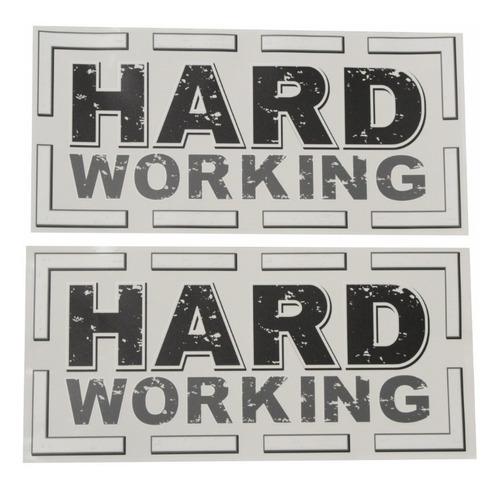 Adesivo Lateral Hard Working Fiat Strada Emblema Par Strda44