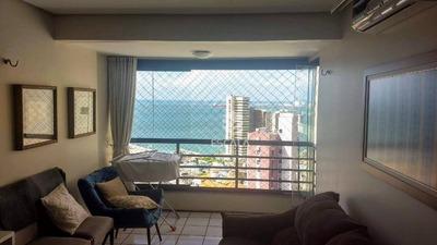 Apartamento Com 2 Quartos À Venda, 63 M², Vista Mar, Moveis Projetados, Andar Alto - Meireles - Fortaleza/ce - Ap1669