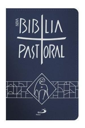 Livro Bíblia Sagrada Catolica Pastoral Média Zíper Azul