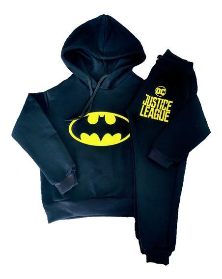 Conjunto Agasalho E Calça Moletom Flanelado Infantil Batman