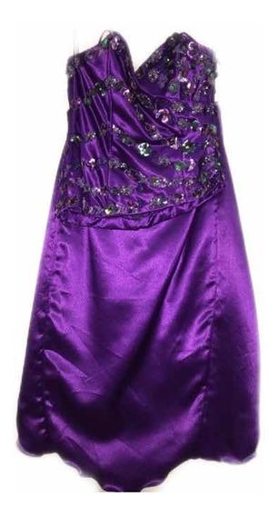 Vestido Fiesta Violeta Alta Costura