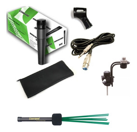 Suporte P/ Microfonar Cajon + Microfone Sm57 + Vassourinha