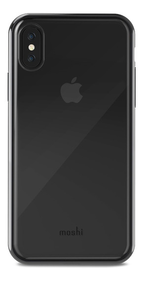 Funda iPhone X Moshi Vitros Raven Transparente