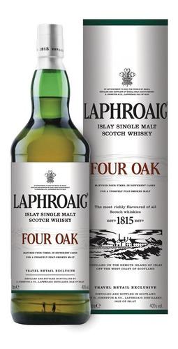 Imagen 1 de 10 de Whisky Laphroaig Four Oak Single Malt 1000ml En Estuche