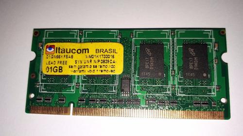 Memoria Itaucom Ddr2 1gb 667mhz Notebook C Garantia