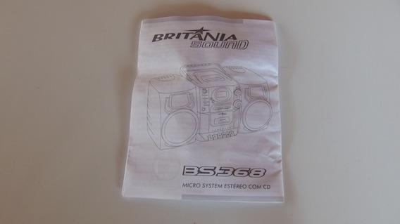 Manual E Termo Garantia Micro System Britânia Sound Bs368