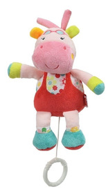 Pelúcia Musical Nuk Toy Hipopótamo Rosa 0m+