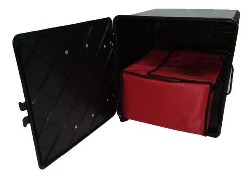 Combo Caja Delivery 40x40x40 + Bolso Canasta Bandejas Pizza