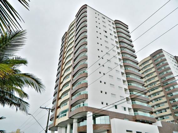 Apartamento Em Praia Grande3 Dormitórios Frente Mar Ref: Ec