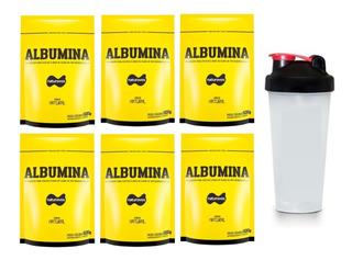 6x Albumina 500g Refil Naturovos + 1 Coqueteleira Brinde