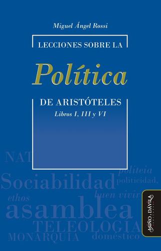 Imagen 1 de 2 de Lecciones Sobre La  Política  De Aristóteles