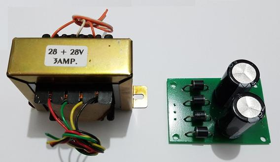 Kit Trafo + Filtro Para Amplificador Tda 7293/94